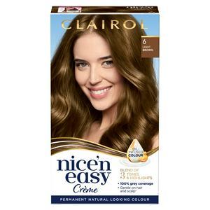 Clairol Nice'n Easy Cr�me Natural Looking Oil-Infused Permanent Hair Dye Light Brown 6