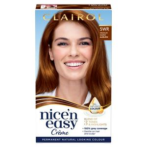 Clairol Nice'n Easy Cr�me Natural Looking Oil-Infused Permanent Hair Dye Medium Warm Auburn 5WR
