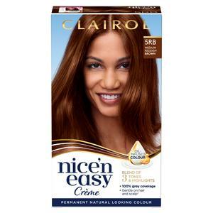 Clairol Nice'n Easy Cr�me Natural Looking Oil-Infused Hair Dye Medium Reddish Brown 5RB