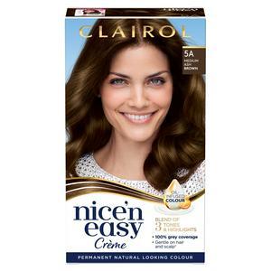 Clairol Nice'n Easy Cr�me Natural Looking Oil-Infused Hair Dye Medium Ash Brown 5A