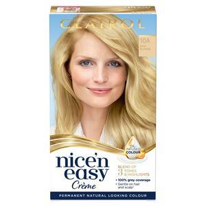 Clairol Nice'n Easy Cr�me Natural Looking Oil-Infused Permanent Hair Dye Baby Blonde 10A