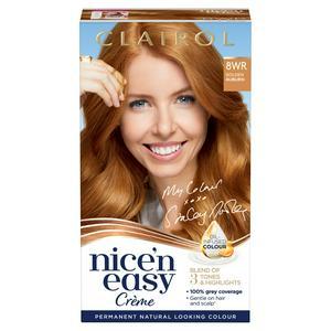 Clairol Nice'n Easy Cr�me Natural Looking Oil-Infused Permanent Hair Dye Golden Auburn 8WR
