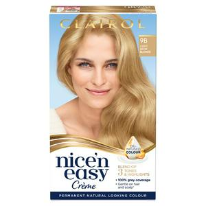 Clairol Nice'n Easy Cr�me Natural Looking Oil-Infused Permanent Hair Dye Light Beige Blonde 9B