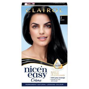 Clairol Nice'n Easy Cr�me Natural Looking Oil-Infused Permanent Hair Dye Black 2