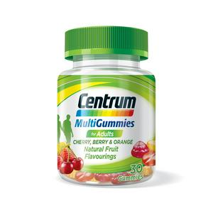 Centrum MultiGummies for Adults Cherry, Berry & Orange Gummies x30
