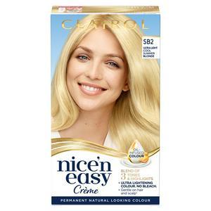 Clairol Nice'n Easy Cr�me Natural Looking Oil-Infused Hair Dye Ultra Light Natural Beach Blonde SB2