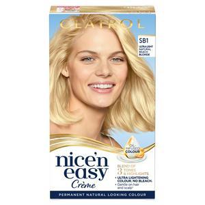 Clairol Nice'n Easy Cr�me Natural Looking Oil-Infused Hair Dye Ultra Light Natural Beach Blonde SB1