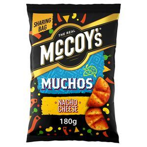 McCoy's Muchos Nacho Cheese Tortilla Crisps 180g