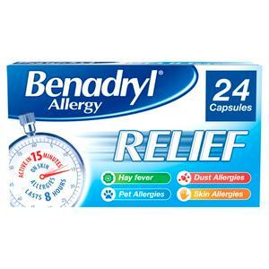 Benadryl Allergy Relief Capsules x24