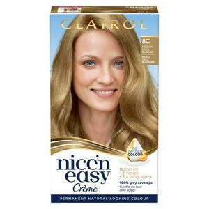 Clairol Nice'n Easy Cr�me Natural Looking Oil-Infused Permanent Hair Dye Medium Cool Blonde 8C