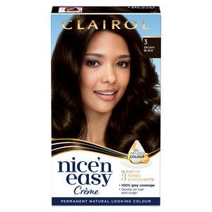 Clairol Nice'n Easy Cr�me Natural Looking Oil-Infused Permanent Hair Dye Brown Black 3