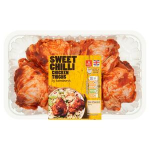 Sainsbury's Sweet Chilli Fresh British Chicken Thighs 900g