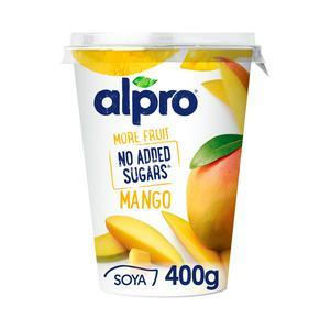 Alpro More Fruit No Added Sugars Mango Yoghurt Alternative 400g
