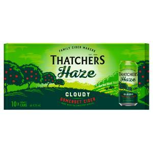 Thatchers Haze Cloudy Somerset Cider 10x440ml
