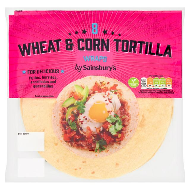 Sainsbury S Soft Corn Tortilla Wraps X8 320g Sainsbury S
