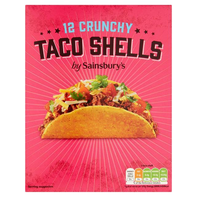 Sainsbury S Crunchy Taco Shells X12 150g Sainsbury S