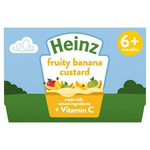 Heinz By Nature Fruity Banana Custard 4+ Months 4 x 100g