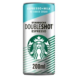 Starbucks Doubleshot Espresso No Added Sugar 200ml