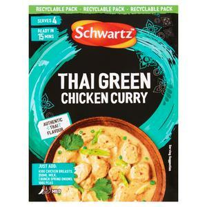 Schwartz Thai Green Chicken Curry Authentic Thai Flavour Sauce 41g