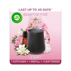 Air Wick Essential Mist Peony & Jasmine Air Freshener Kit 20ml