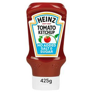 Heinz No Added Sugar or Salt Tomato Ketchup 425g