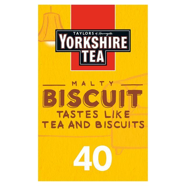 Yorkshire Tea Biscuit Brew x40 Tea Bags 112g
