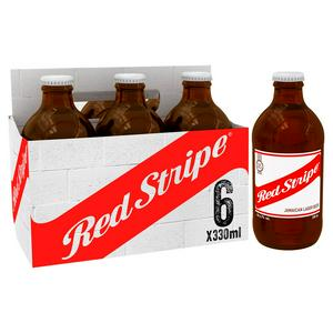 Red Stripe Jamaican Lager Beer Bottles 6 x 330ml