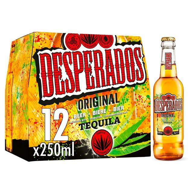 Desperados Tequila Lager Beer Bottles 12 X 250ml Sainsbury S