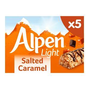 SAINSBURYS > Food Cupboard > Alpen Light Salted Caramel Cereal Bar 5x19g