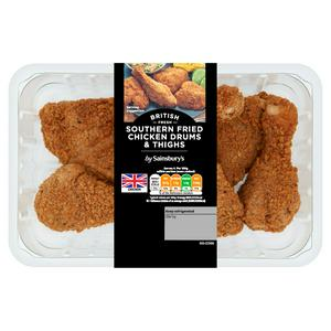 Sainsbury's Southern Fried Breaded Fresh British Chicken Drums & Thighs 800g