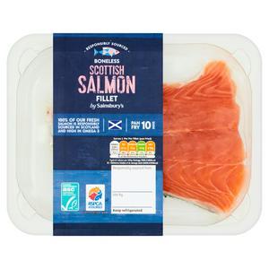 Sainsbury's Scottish Salmon Fillet 140g
