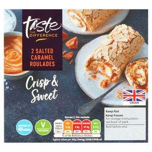 Sainsbury's Salted Caramel Roulades, Taste the Difference x2 180g