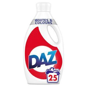 Daz Washing Liquid Whites & Colours 875ml (25 Washes)