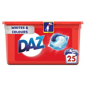 Daz All-in-1 Pods for Whites and Colours Washing Liquid Capsules (25 Washes)