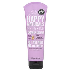 Happy Naturals Relaxing Shower Cream Lavender & Oatmeal 250ml