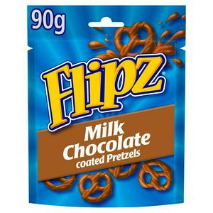 Flipz Milk Chocolate Covered Pretzels 90g