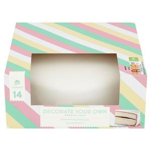 Sainsbury's Decorate Your Own Madeira Cake 905g (Serves 14)
