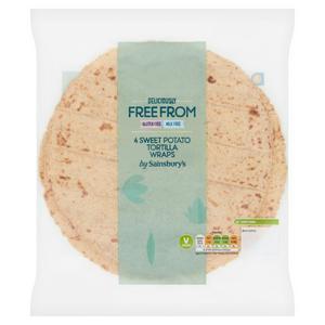 Sainsbury's Deliciously Free From Sweet Potato Tortilla Wraps x4
