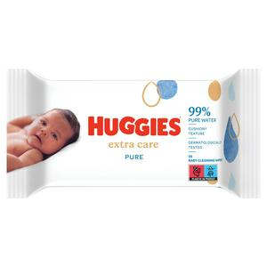Huggies Pure Extra Care Baby Single Pack Wipes x56