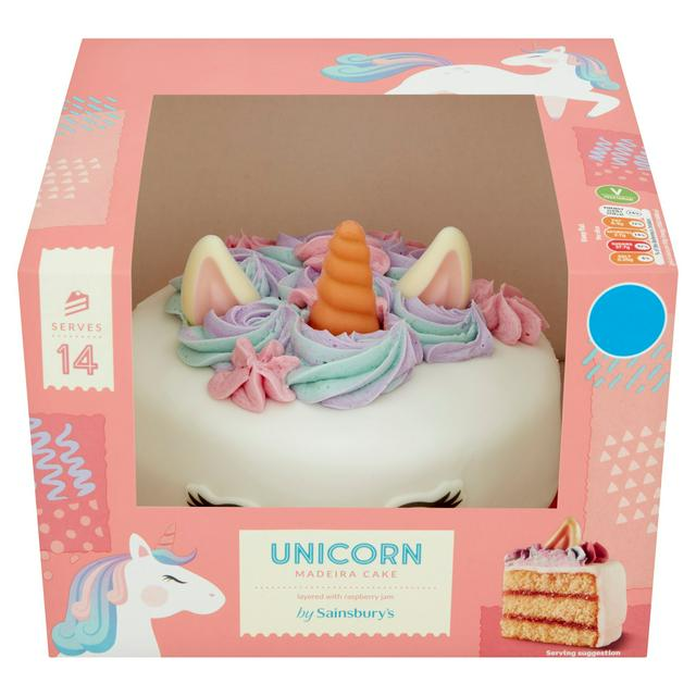 Phenomenal Sainsburys Unicorn Cake 1 1Kg Serves 16 Sainsburys Personalised Birthday Cards Epsylily Jamesorg