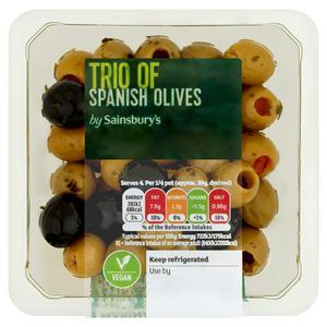 Sainsbury's Trio Of Olives 160g