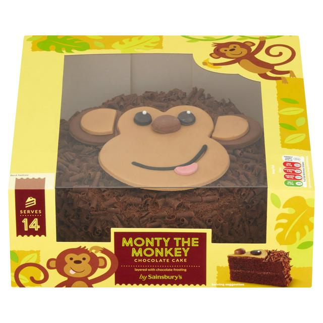 Prime Sainsburys Monty The Monkey Celebration Cake 835G Sainsburys Funny Birthday Cards Online Alyptdamsfinfo