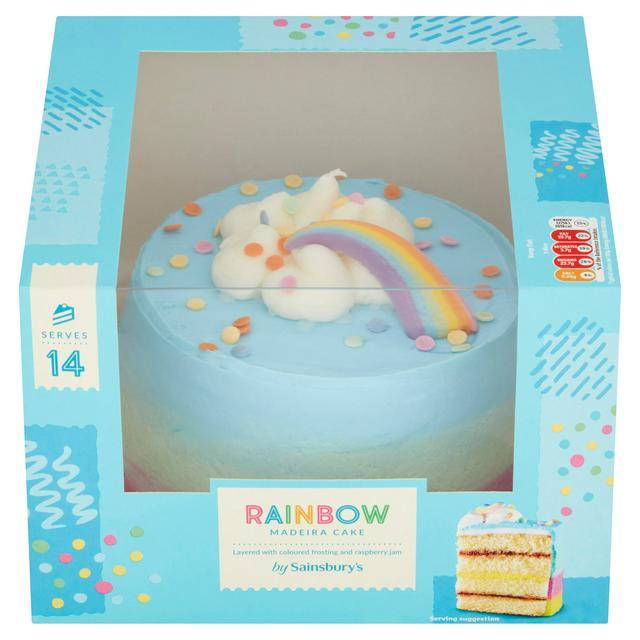 Sainsbury S Rainbow Cake 937g Sainsbury S