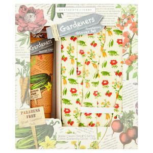 Heathcote& Ivory In The Garden Gardening Gloves & Hand Cream Set