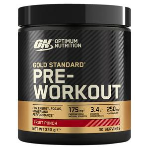 Optimum Nutrition Gold Standard Pre-Workout Fruit Punch Flavour 330g