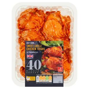 Sainsbury's British Sweet Chilli Chicken Thighs 700g