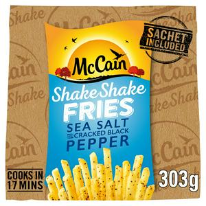 McCain Shake Shake Fries Sea Salt and Cracked Black Pepper 300g
