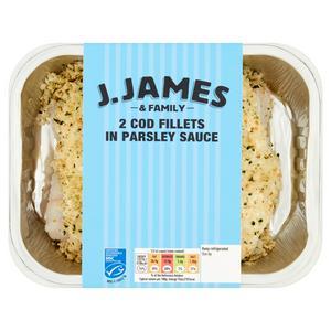 J. James Cod In Parsley Sauce 380g