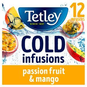 Tetley Cold Infusions Mango & Passionfruit Tea Bags x12