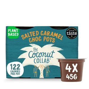 The Coconut Collaborative Salted Caramel Choc Pots 4x45g